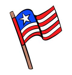 usa flag icon cartoon vector image