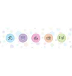 5 invitation icons vector