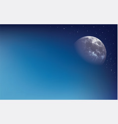Abstract background with moon vector