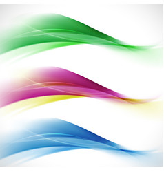 abstract elegant colorful wave and wavy stripes vector image