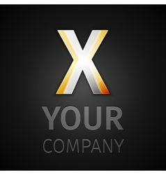 abstract logo letter X vector image