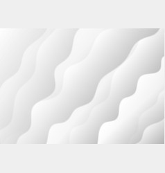 Abstract white and grey soft waves background vector