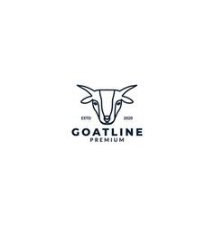 Animal goat head line minimalist logo design icon vector