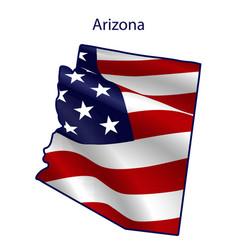 arizona full american flag waving in wind vector image
