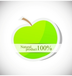 Background with apple vector image