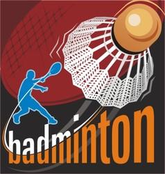 badminton poster vector image