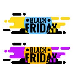 black friday sale web banner geometric graphic vector image