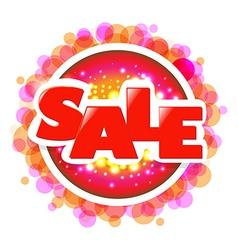 Bright Sale Speech Bubble With Bokeh vector image