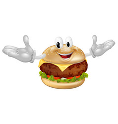 burger mascot man vector image