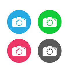 camera icon flat camera sign isolated vector image