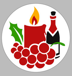 Candle holiday box vector