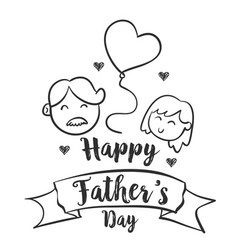 Celebration happy father day style vector