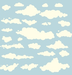 clouds collection set blue vector image