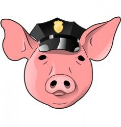 Cop pig vector