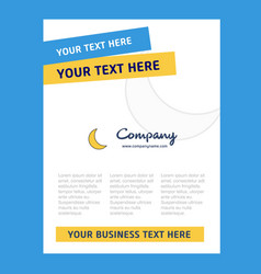 Cresent title page design for company profile vector