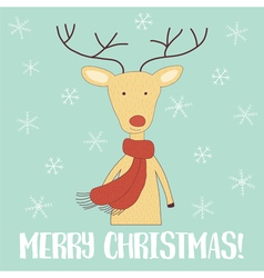 deer card vector image