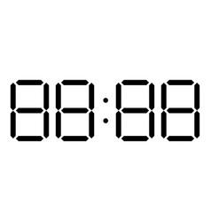 Digital clock face icon black color flat style vector