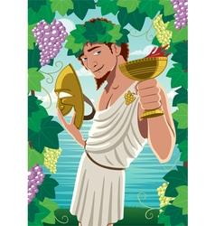 Dionysus vector image