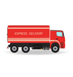 express delivery service car transportation vector image