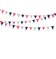 festive bunting flags holiday decorations vector image