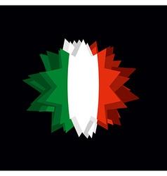 Flag italy pointed star abstract flag of italian vector