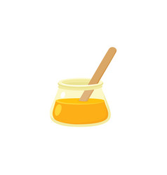 flat icon of sugaring paste sugar waxing concept vector image