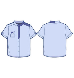 front and back view of summer shirt vector image