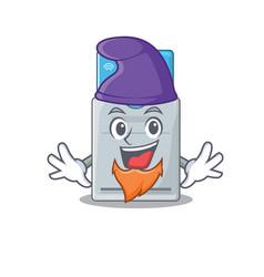 Funny key card cartoon mascot performed as an elf vector