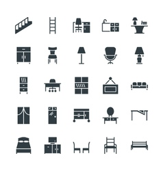 Furniture Cool Icons 4 vector image