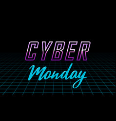 futuristic cyber monday design template vector image