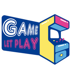 Game let play game machine background image vector