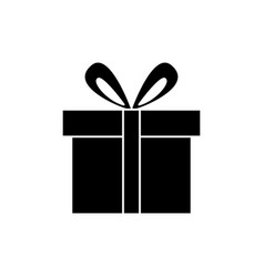 gift box cute icon black vector image