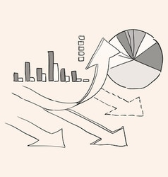 Growth Chart Diagram vector image