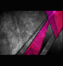 grunge tech material pink and dark grey background vector image