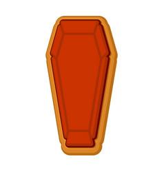 halloween cookie coffin gingerbread rip cookies vector image