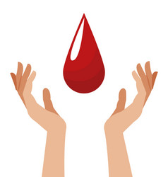 hand with blood drop image vector image