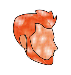 Head face man character draw vector