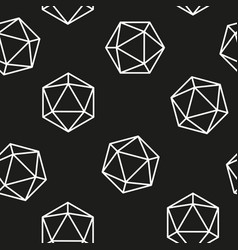 Hexagon seamless pattern line model vector