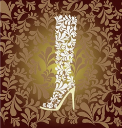 high heel boot fashion background vector image