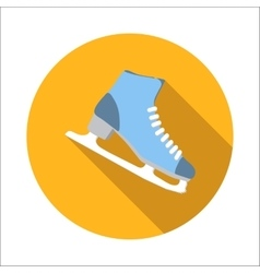 Ice skating flat icon vector