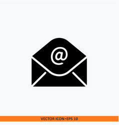 icon message open envelop and symbol email solid vector image