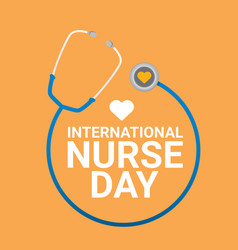 International nurse day label vector
