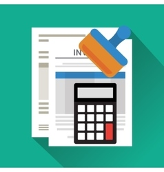 Invoice document design vector