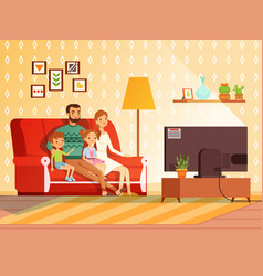 Lifestyle modern family mother father and vector