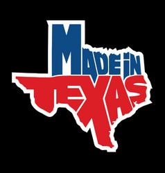 made in texas vector image