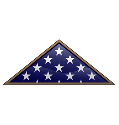 military veteran folded american flag vector image