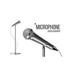 Modern microphone with stand conference vector