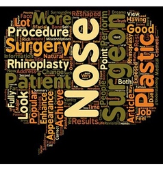 Myths About Rhinoplasty Revisited text background vector