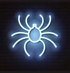 neon spider sign vector image