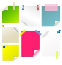 Note papier sticker postit vector